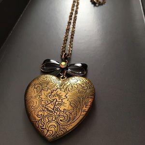 Forever21 Heart Locket Necklace